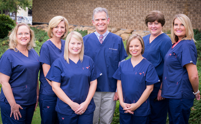 Dr. Brooks and Dental Staff